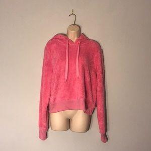 Pink fluffy hoodie